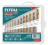 Набор сверл по металлу TOTAL TACSD0125 12шт, d=2-8мм.