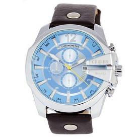 Наручные часы эконом Curren Silver-Black Blue dial 8176-4