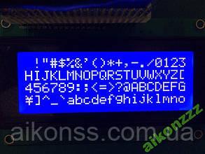 ЖКИ модуль LCD 2004 дисплей синий символы белые