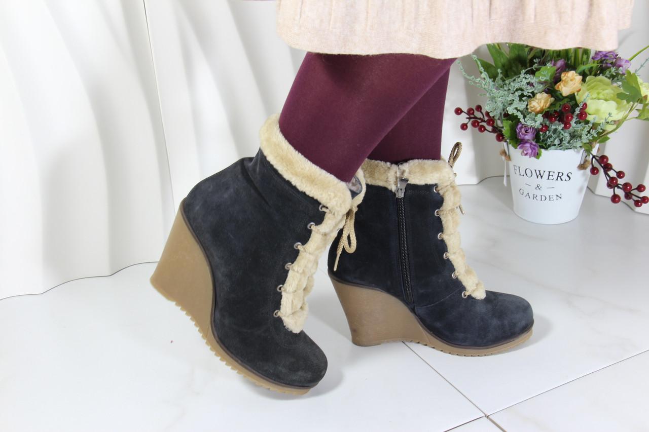 Замшевые ботинки зимние Ziva 2012-L-S