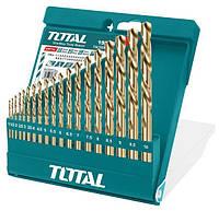 Набор спиральных сверл TOTAL TACSD0195 19шт, d=1-10мм
