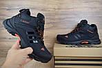 Чоловічі зимові кросівки Adidas Climaproof (чорно-помаранчеві), фото 9