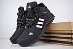 Чоловічі зимові кросівки Adidas Climaproof (чорно-білі), фото 7