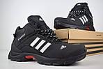 Чоловічі зимові кросівки Adidas Climaproof (чорно-білі), фото 8