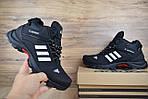 Чоловічі зимові кросівки Adidas Climaproof (чорно-білі), фото 9