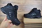 Мужские зимние кроссовки Adidas Climaproof (черные), фото 3