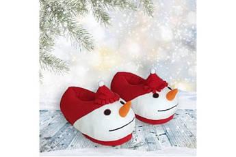 Детские тапочки игрушки новогодние Снеговик Размер 25 - 45