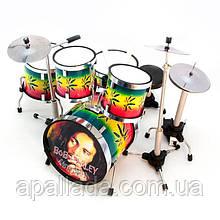 """Барабанна установка """"Bob Marley"""", 13*13*11 см."""