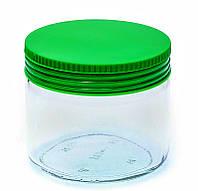 Банка стеклянная Everglass 330 мл.для хранения с зеленой пластиковой крышкой (Италия)