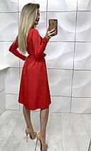 Платье на пуговицах с длинными рукавами /разные цвета, 42-46, ft-385/, фото 3