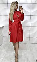 Платье на пуговицах с длинными рукавами /разные цвета, 42-46, ft-385/, фото 2