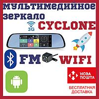 Зеркало с видеорегистратором и навигатором камерой WIFI 3G bluetooth CYCLONE MR-220, фото 1