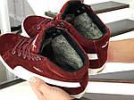 Мужские зимние кроссовки Puma Suede (бордовые), фото 5
