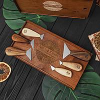 Набор ножей флажков для резьбы по дереву, 6 штук в пенале от производителя STRYI