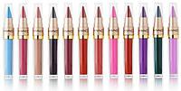 Жидкая губная помада + помада карандаш 2 в 1 MAC Long Lasting Lip Gloss (Палитра 12 шт)