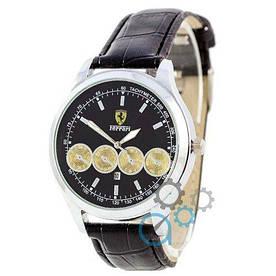Наручные часы эконом Ferrari Maranello Quartz Black-Silver-Black