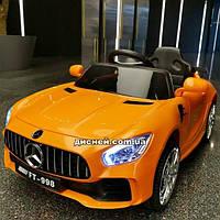 Детский электромобиль M 4105 EBLR-7 Mercedes с мягким сиденьем, оранжевый