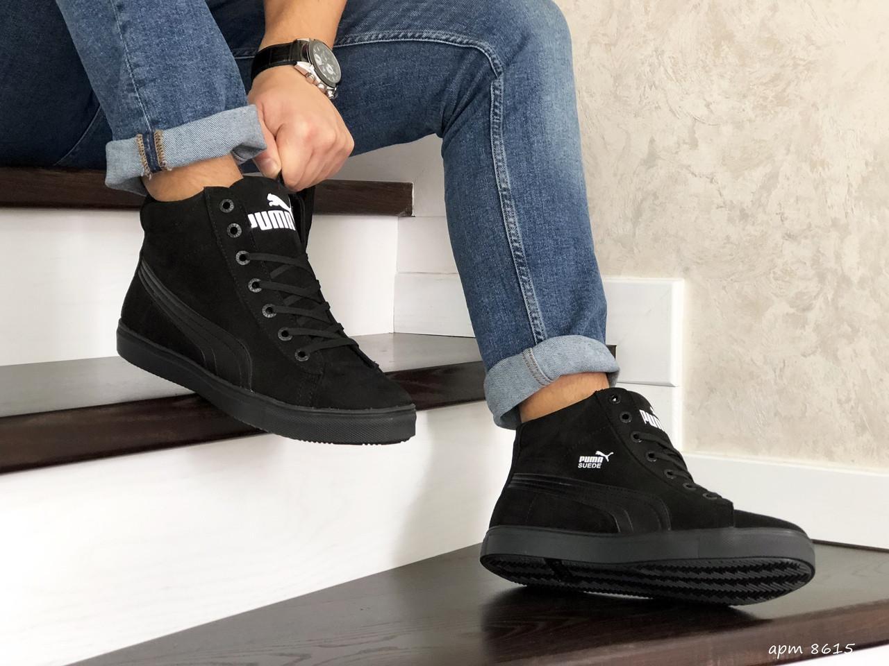 Чоловічі зимові кросівки Puma Suede (чорні)
