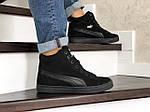 Мужские зимние кроссовки Puma Suede (черные), фото 4
