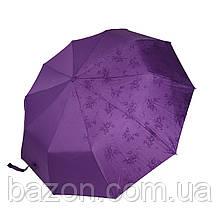 """Женский зонтик полуавтомат на 10 спиц Bellisimo """"Flower land"""", сиреневый цвет, 461-2"""