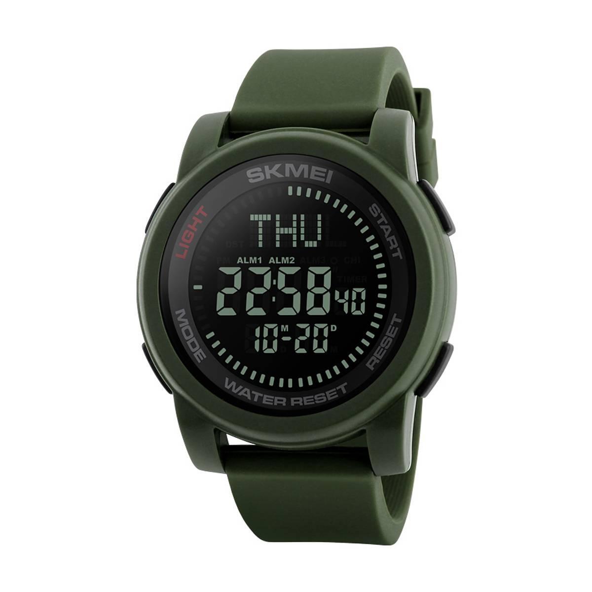 Skmei 1289  compass зеленые  мужские спортивные часы с компасом