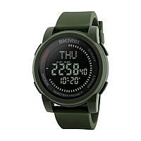 Skmei 1289  compass зеленые  мужские спортивные часы с компасом, фото 1
