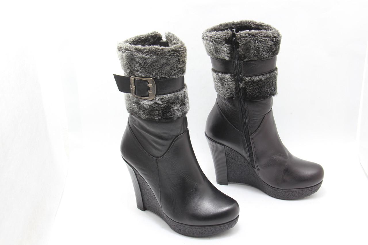 Кожаные ботинки зимние размера 33-35  Zuha 131-11(M)