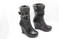 Кожаные ботинки зимние размера 33-35  Zuha 131-11(M), фото 1