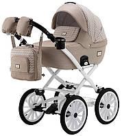 Детская классическая коляска Adamex Lucianо Retro Q205 капучино джинс