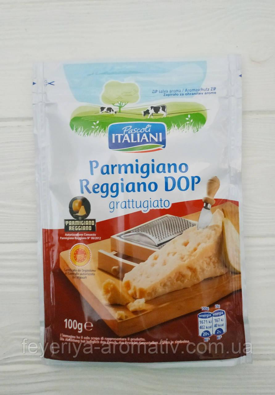 Сыр пармезан тертый Pascoli Italiani Parmigiano Reggiano Dop, 100гр (Италия)