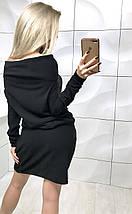 Платье короткое из ангоры /разные цвета, 42-46, ft-384/, фото 3