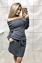 Платье короткое из ангоры /разные цвета, 42-46, ft-384/, фото 2