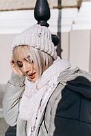 Женский Вязаный Набор Шапка+Шарф, фото 1