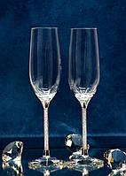 Свадебные бокалы с кристаллами Сваровски