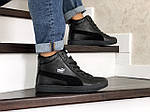 Чоловічі зимові кросівки Puma Suede (чорні), фото 3