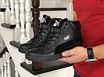 Чоловічі зимові кросівки Puma Suede (чорні), фото 4