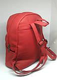 Рюкзак Красный городской (Два сердца), фото 4