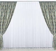 Готовые дорогие  плотные шторы с рисунком Турция в спальню,залу,гостинную (цвета в ассортименте)