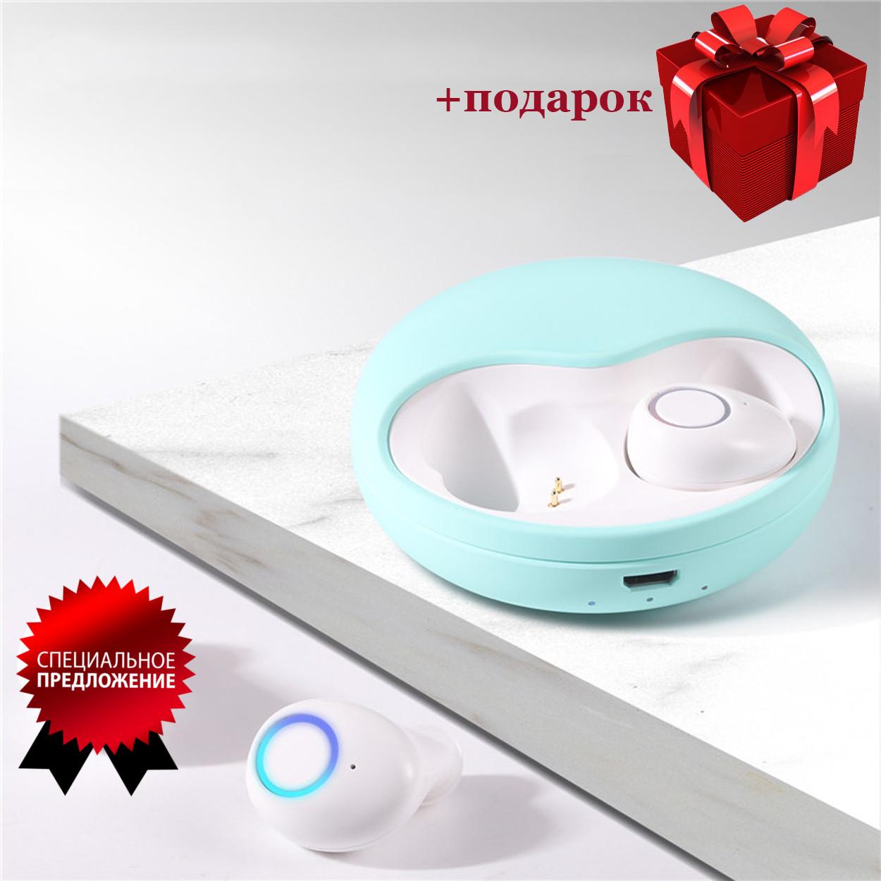 Бездротові Bluetooth-навушники безпровідні із зарядним чохлом-кейсом Wi-pods K10 Bluetooth 5.0. М'ятні.