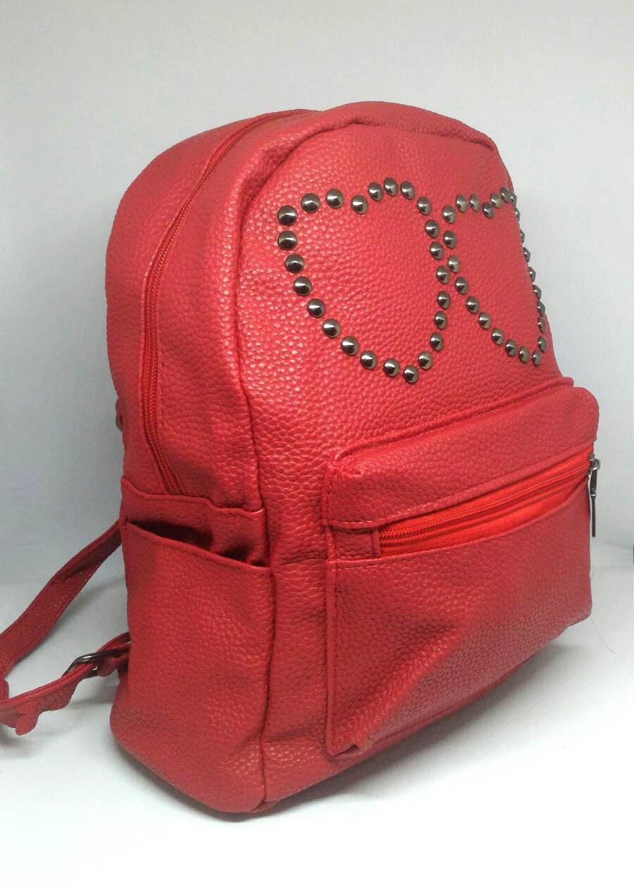 Рюкзак Красный городской (Два сердца)
