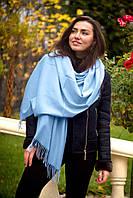 Палантин шарф теплый однотонный зимний Соналика