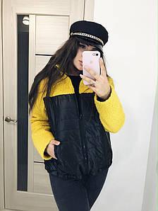 Короткое женское пальто на молнии 50-52, 54-56, 58-60