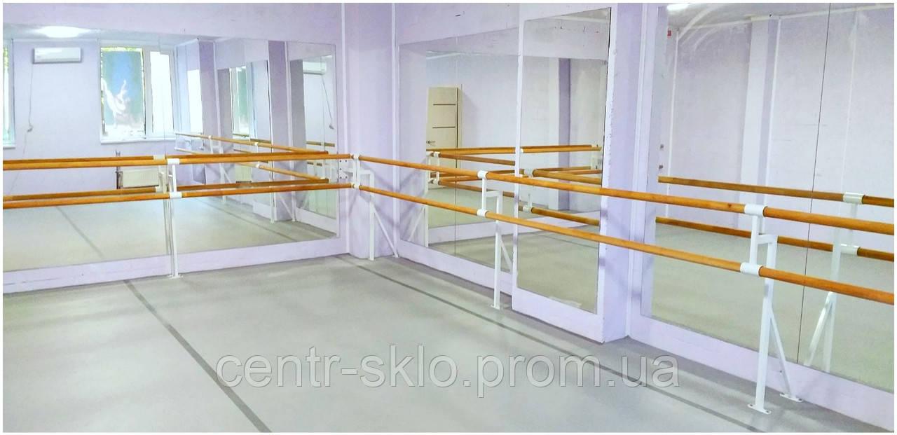 Обустройство зеркалами танцевальной студии