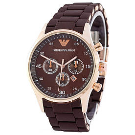 Наручные часы эконом Emporio Armani Silicone Gold-Brown