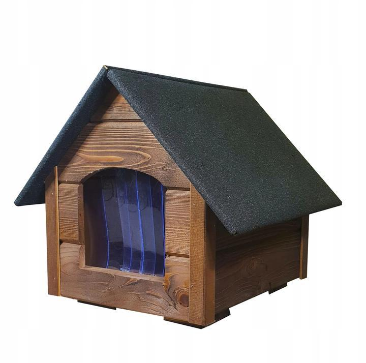 Утепленная будка для маленькой собаки из дерева  Four Seasons М