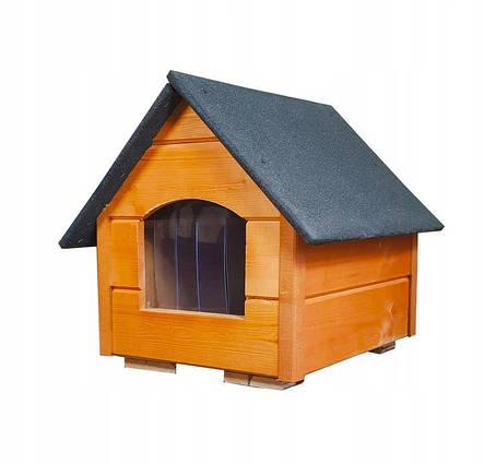 Утепленная будка для маленькой собаки из дерева  Four Seasons М, фото 2