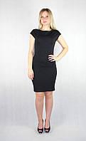 Элегантное черное женское платье миди, фото 1
