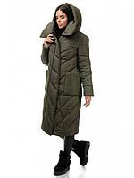 Стильное теплое молодежное пальто с утеплителем синтепух рр 44-50