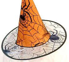 Шляпа Ведьмы с пауками на Хэллоуин
