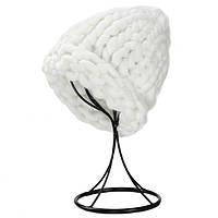Женская шапка из крупной вязки Хельсинки белая